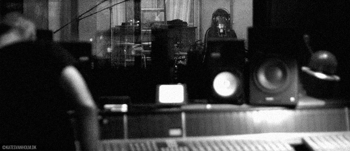 Kate Svanholm recording vocals